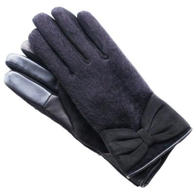 ANTEPRIMA アンテプリマ レディース 手袋 革 異素材 ブラック リボン スマホ対応 新品