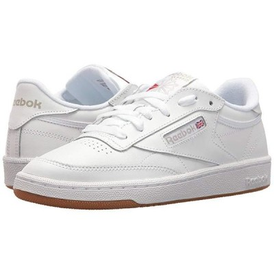 リーボック Club C 85 レディース スニーカー White/Light Grey/Gum