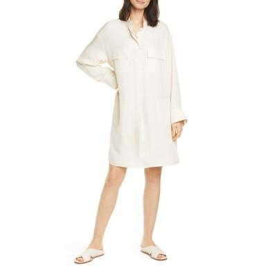 ヴィンス レディース ワンピース トップス Utility Long Sleeve Shirtdress FENNEL