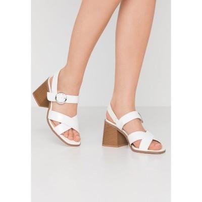 シンプリービー サンダル レディース シューズ WIDE FIT ALASKA - Sandals - white