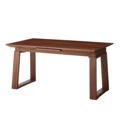 1人で簡単に調整できるウォルナット材の伸長式ダイニングテーブル<4人用―6人用>
