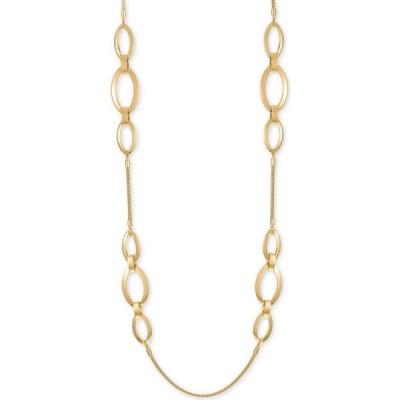 """アルファニ Alfani ユニセックス ネックレス ジュエリー・アクセサリー Gold-Tone Triple-Link Strand Necklace, 42"""" + 2"""" extender Gold"""