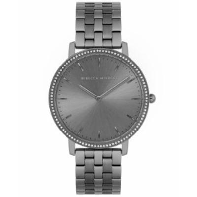 レベッカミンコフ レディース 腕時計 アクセサリー Women's Major Gray-Tone Bracelet Watch 35mm Grey