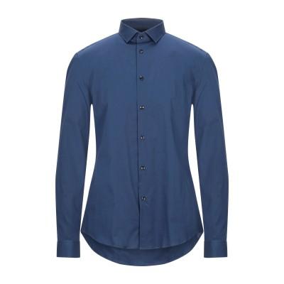 VERSACE COLLECTION シャツ ブルー 45 コットン 97% / ポリウレタン 3% シャツ