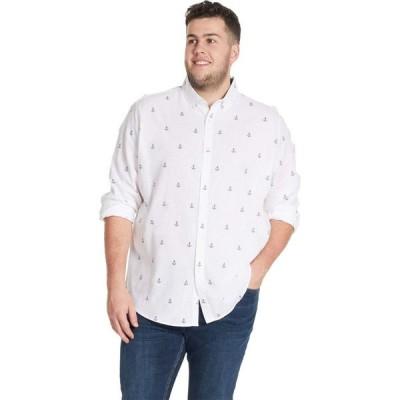 ジョニー ビッグ Johnny Bigg メンズ トップス 大きいサイズ Big & Tall Anchors Shirt White