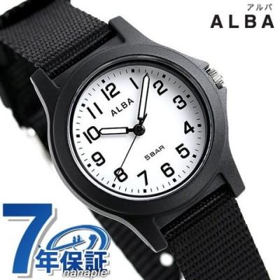 セイコー アルバ レディース 腕時計 ホワイト×ブラック ナイロンベルト クオーツ AQQK406 SEIKO ALBA