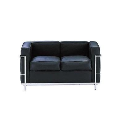 デザイナーズソファ ル・コルビジェ 2P二人掛け  Le Corbusierミッドセンチュリー LC2 TEKNO社製イタリア製MTS0002BL
