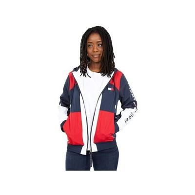 トミー・ヒルフィガー Color-Block Jacket with Hood レディース コート アウター Sky Captain Multi