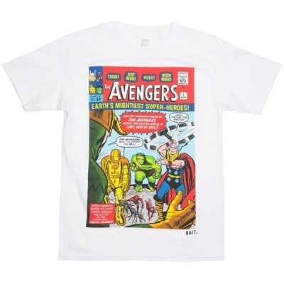 ベイト メンズ 服  BAIT x Marvel Men Avengers - Earth's Mightiest Heroes Tee (white)