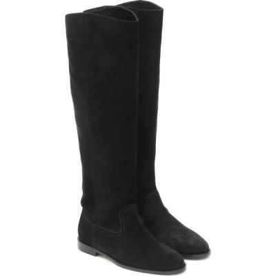 ジミー チュウ Jimmy Choo レディース ブーツ シューズ・靴 Bree Suede Knee-High Boots Black