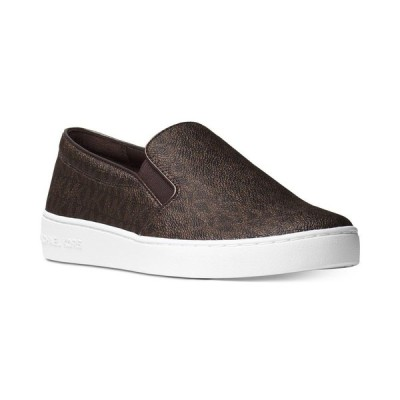 マイケル コース Michael Kors レディース スリッポン・フラット シューズ・靴 Keaton Slip-On Logo Sneakers Brown Logo