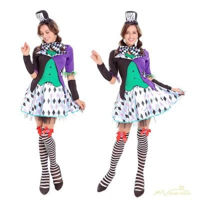 制服 万聖節 トランプ 女王 コスプレ レディース コスチューム ピエロ 童話 キャラクター 演出用 ダンス 舞台 パーティー