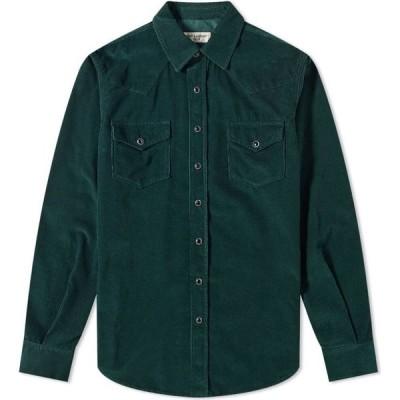 イヴ サンローラン Saint Laurent メンズ シャツ ウエスタンシャツ トップス Cord Western Shirt Dark Green