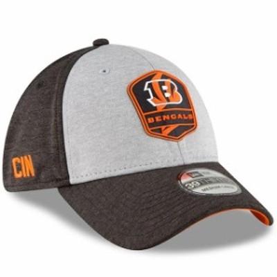 New Era ニュー エラ スポーツ用品  New Era Cincinnati Bengals Heather Gray/Black 2018 NFL Sideline Road Official 39THI