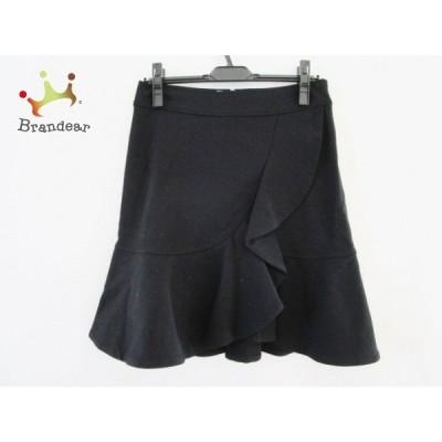 ブルマリン BLUMARINE スカート サイズ42(I) M レディース - 黒 ひざ丈/フリル 新着 20200902