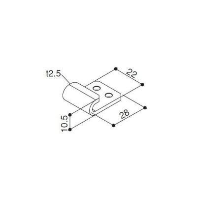 【YKK AP メンテナンス部品】 メッシュパネルホルダーA (HHK1-6295)