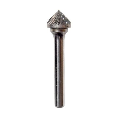 NRS 超硬バー 90°dカット 刃径12×刃長6×軸径6×軸長48 ロー付 (TCBT2840D) ニューレジストン(株)