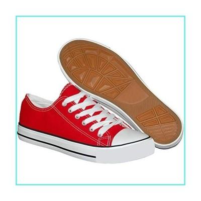 【新品】Krazy Shoe Artists Republic Men's Red Canvas Skater Style Sneaker, Size 12(並行輸入品)