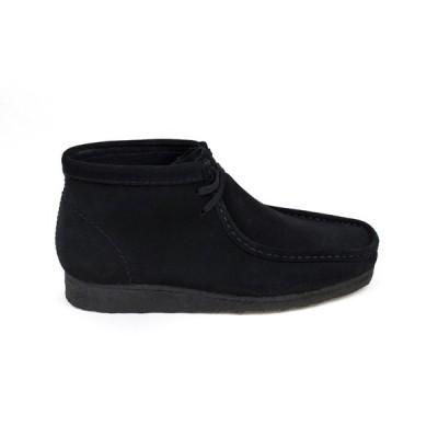 ブーツ クラークス Clarks Wallabee Boot 26103669 in Black Suede Sizes 8-13