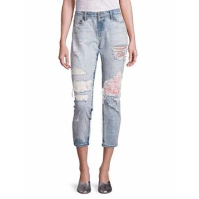 トータス レディース パンツ デニム Savanna Floral Embroidered Patch Cropped Jeans