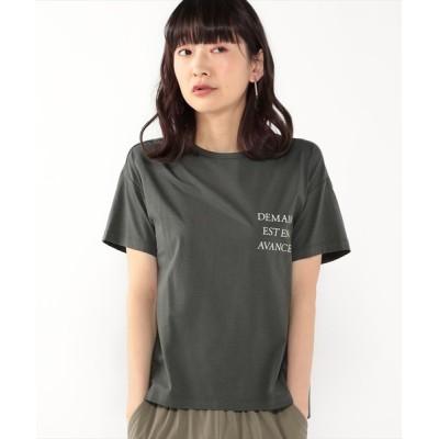 tシャツ Tシャツ 接触冷感ロゴプリントTシャツ