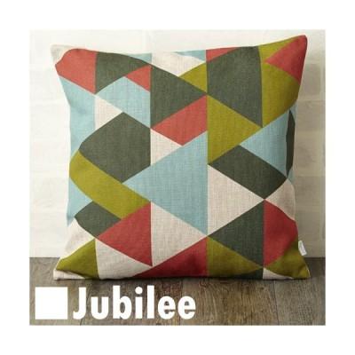 クッションカバー 45×45cm 北欧デザイン グリーンレッドジオ Jubilee London