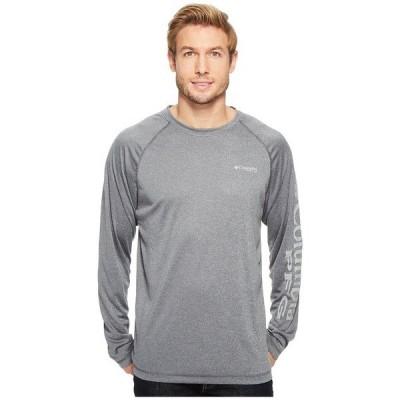 コロンビア パーカー・スウェットシャツ アウター メンズ Terminal Tackle Heather Long Sleeve Shirt Charcoal Heather/Cool Grey Logo