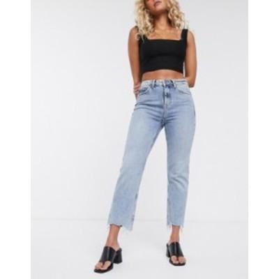 トップショップ レディース デニムパンツ ボトムス Topshop straight leg jeans in bleach wash Bleach