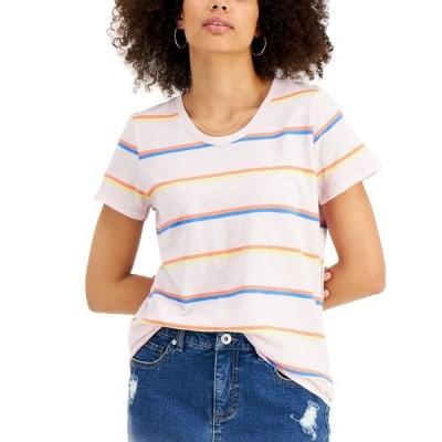 スタイルアンドコー Tシャツ トップス レディース Petite Printed Scoop-Neck T-Shirt, Created for Macy's Orchid Stripe