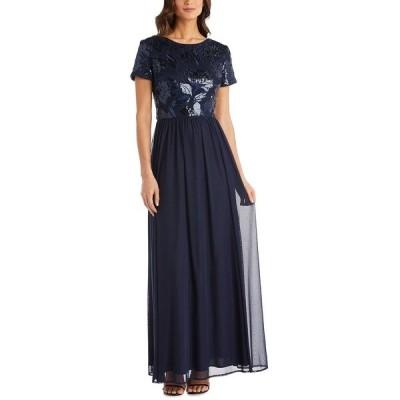 アールアンドエムリチャーズ ワンピース トップス レディース Sequin-Embellished Gown Navy