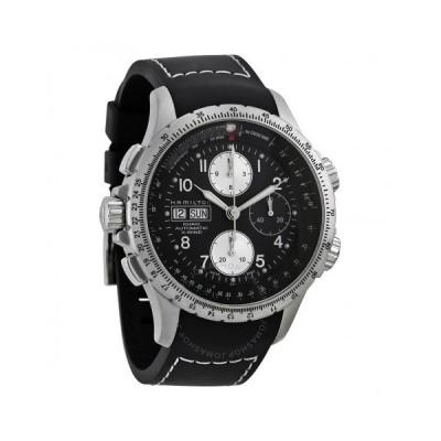 Hamilton/ハミルトン メンズ 腕時計 X-Wind Black Dial クロノグラフ メンズ Watch H77616333