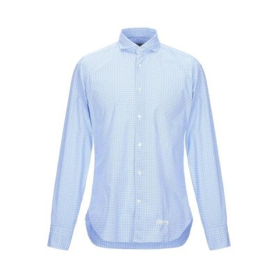 TINTORIA MATTEI 954 柄入りシャツ ファッション  メンズファッション  トップス  シャツ、カジュアルシャツ  長袖 アジュールブルー