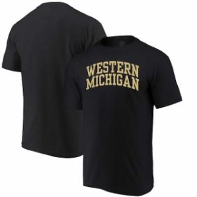 Alta Gracia アルタ グラシア スポーツ用品  Alta Gracia (Fair Trade) Western Michigan Broncos Black Arched Wordmark T-Shirt