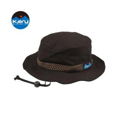 カブー KAVU ストラップバケットハット ブラック 帽子 バケットハット キャンバスコットン 定番 アメリカ製