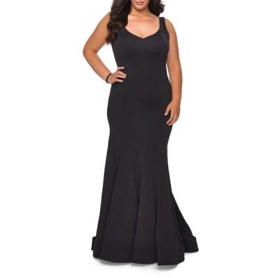 ラフェム レディース ワンピース トップス Plus Size V-Neck Sleeveless Jersey Gown