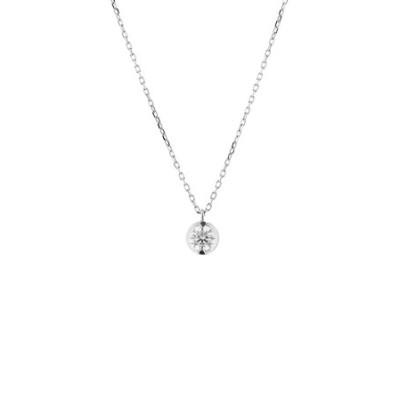 プラチナ ダイヤモンド ネックレス(0.2ct)