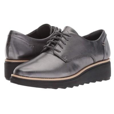 クラークス Clarks レディース ローファー・オックスフォード シューズ・靴 Sharon Noel Gunmetal Metallic Leather