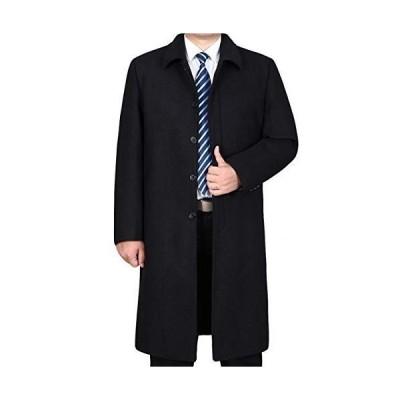 YACORESYA チェスターコート メンズ 大きいサイズ ロングコート ウール 無地 折り襟 秋 冬 上質仕様 ビジネスコート カジュアル