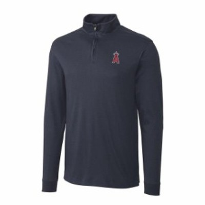Cutter & Buck カッター アンド バック スポーツ用品  Cutter & Buck Los Angeles Angels Charcoal Belfair Half-Zip Pullover Jacket