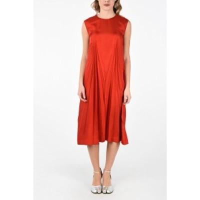 MAISON MARGIELA/メゾン マルジェラ Red レディース MM0 Zip Back Closure Pleats Tunic Dress dk