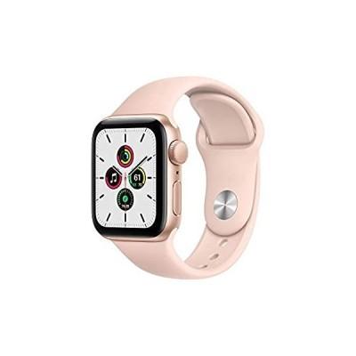 【送料無料】New Apple Watch SE (GPS, 40mm) - Gold Aluminum Case with Pink Sand Sport Ba