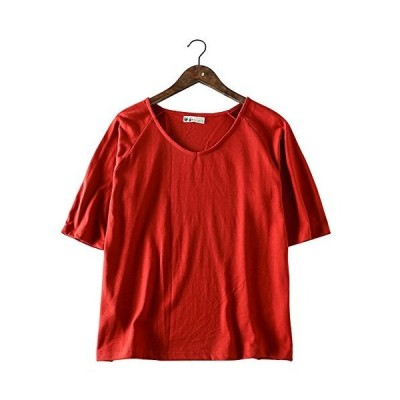【HEMP SHOW】レディース ラグラン Vネック 透けない6.5オンス ヘンプ・オーガニックコットン・竹繊維 五分袖 半