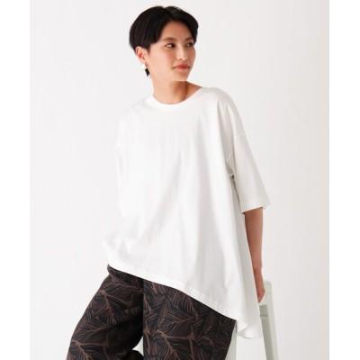 OPAQUE.CLIP / マーセライズドコットン イレギュラーヘムプルオーバー【WEB限定カラー・サイズ】 WOMEN トップス > Tシャツ/カットソー