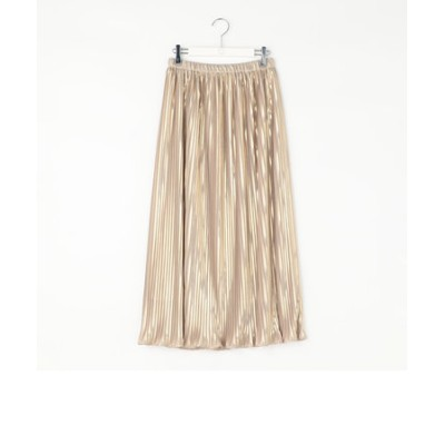 箔ストライププリーツスカート