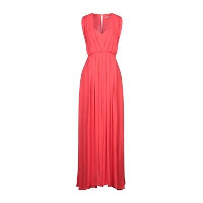 EMMA & GAIA ロングワンピース&ドレス レッド 46 レーヨン 100% ロングワンピース&ドレス