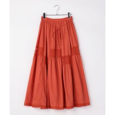 スカート Khaju:レースロングスカート