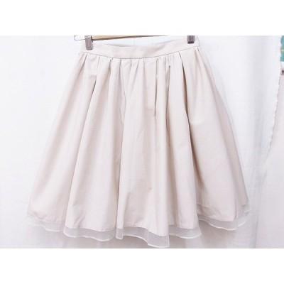 JILL STUART ジルスチュアート  フレアスカート 裾チュール  0 ベージュ