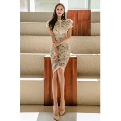 ワンピース レディース きれいめ レディース 韓国 夏 ファッション タイトワンピース 春夏 シースルー 結婚式 二次会 パーティー