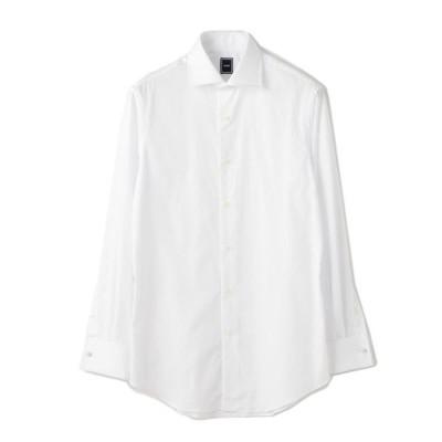 シャツ ブラウス SD: ブロード ソリッド ダブルカフス シャツ