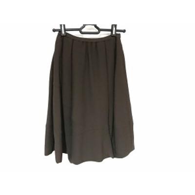 フォクシー FOXEY バルーンスカート サイズ38 M レディース 美品 ダークブラウン【中古】20200718